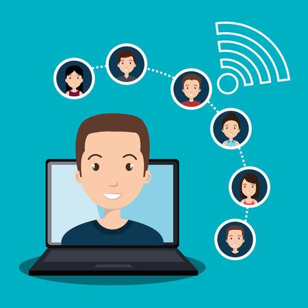 network marketing: social network design, vector illustration eps10 graphic