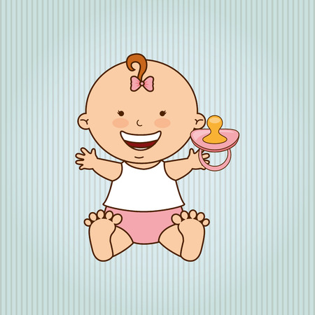 soothers: baby shower icon design, vector illustration eps10 graphic