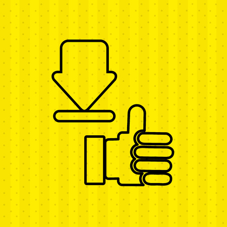 cool down: hand like  design, vector illustration eps10 graphic