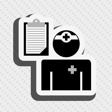 clinical staff: health professional design, vector illustration