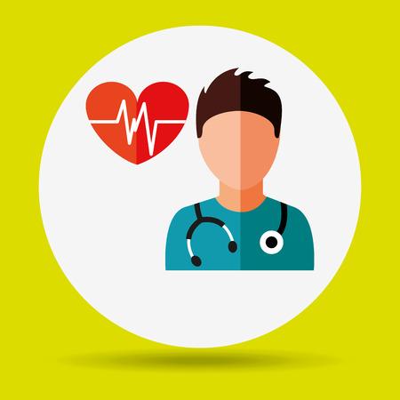 medical heart: health professional design, vector illustration