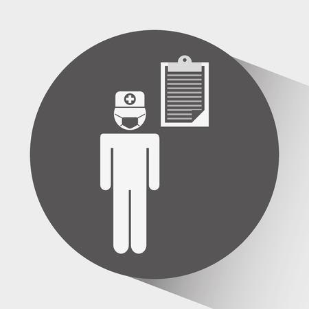 clinical staff: health professional design, vector illustration eps10 graphic Illustration