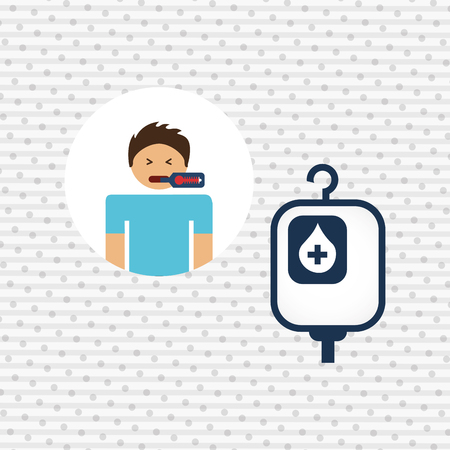 coughing: sick person design, vector illustration eps10 graphic