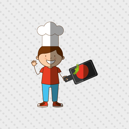 eating lunch: kids cooking design, vector illustration eps10 graphic