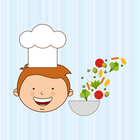 children eating: kids cooking design, vector illustration eps10 graphic