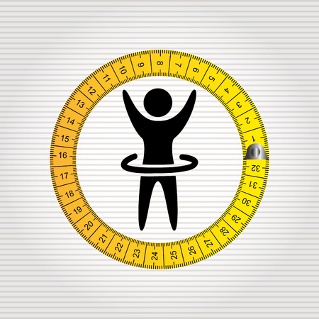 lose: lose weight design, vector illustration eps10 graphic