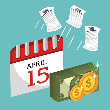 tax time design, vector illustration eps10 graphic 矢量图像
