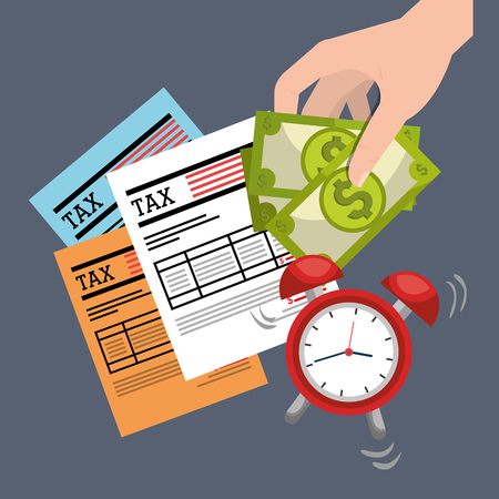 taxpayer: tax time design, vector illustration eps10 graphic Stock Photo