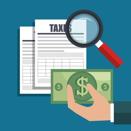 tax time design, vector illustration eps10 graphic Illustration