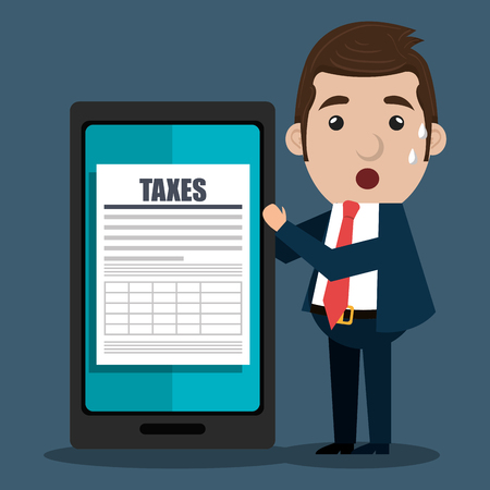fetter: tax time design , vector illustration eps10 graphic