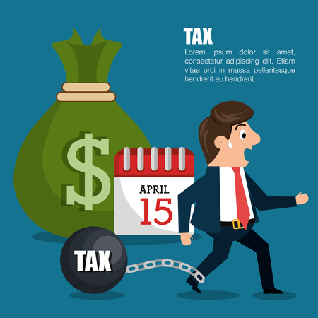 fetter: tax time design, vector illustration eps10 graphic Illustration