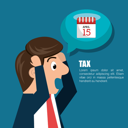 taxpayer: tax time design, vector illustration eps10 graphic Illustration