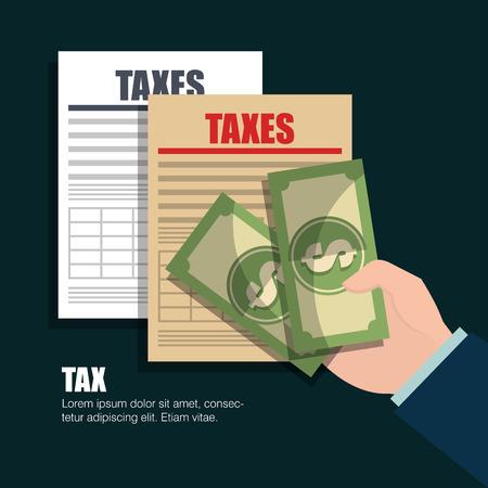 czas podatkowy projekt, wektorowa ilustraci eps10 grafika