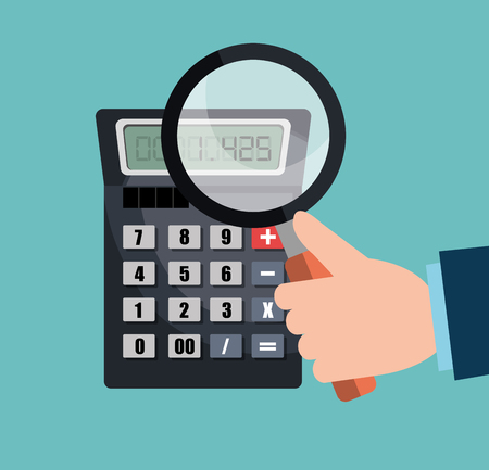 calculating: calculating expenses design, vector illustration eps10 graphic Illustration