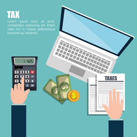 Diseño de la temporada de impuestos, ilustración vectorial gráfico eps10 Foto de archivo - 55718103