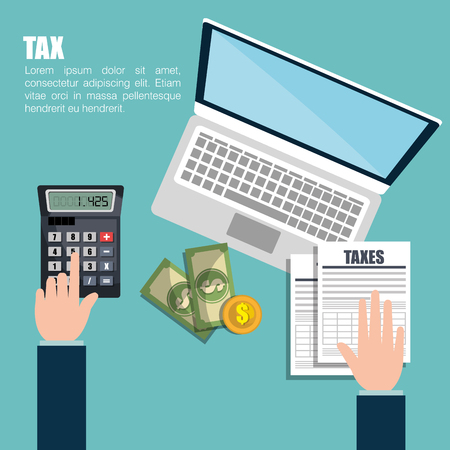 tax time design, vector illustration eps10 graphic Stock Illustratie