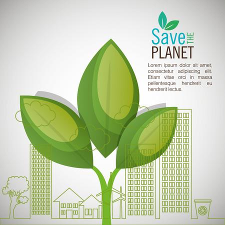 eco-vriendelijk design, vector illustratie eps10 grafische