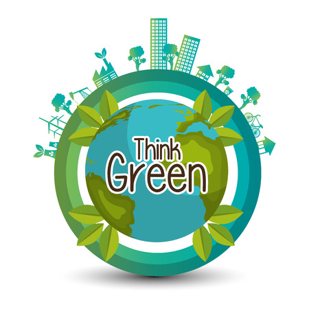 environment protection: eco friendly design, vector illustration eps10 graphic Illustration