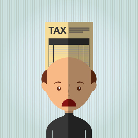 taxed: tax time design, vector illustration  graphic Illustration