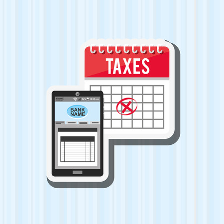 taxation: tax time design, vector illustration  graphic Illustration