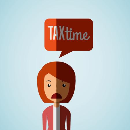 irs: tax time design, vector illustration eps10 graphic Illustration
