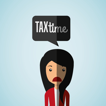 irs: tax time design, vector illustration eps10 graphic Illustration
