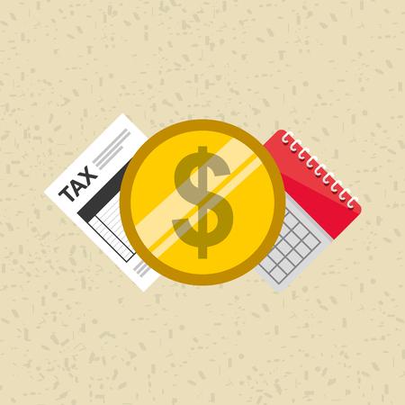 taxation: tax time design, vector illustration eps10 graphic Illustration