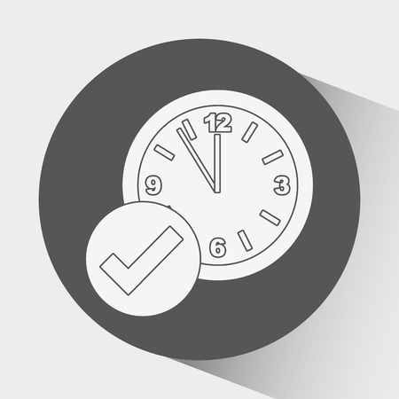 time over: time Icon over white background, Vector illustration