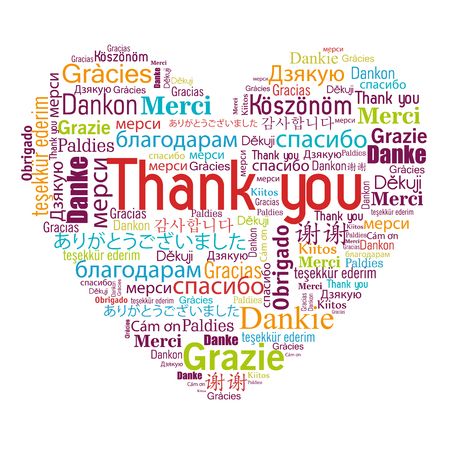 thanks in different languages design, vector illustration eps10 graphic