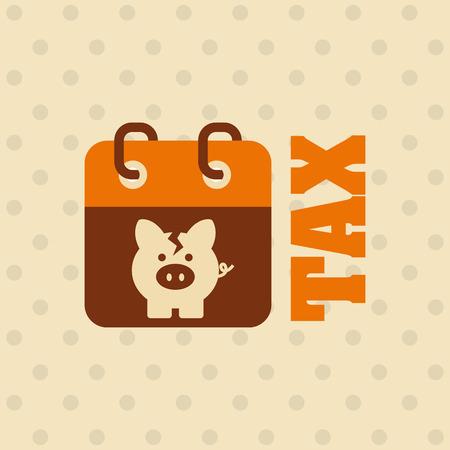 fiscale tijd ontwerp, vector illustratie eps10 grafische