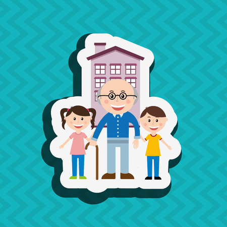 grandaughter: silhouette family design, vector illustration eps10 graphic