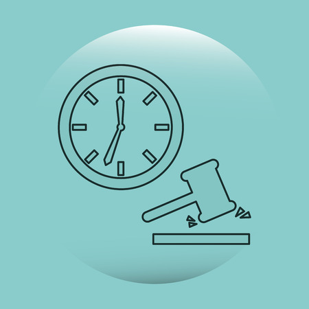 judgments: justice flat icon design, vector illustration eps10 graphic