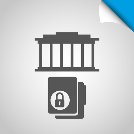 legislation: justice flat icon design, vector illustration eps10 graphic