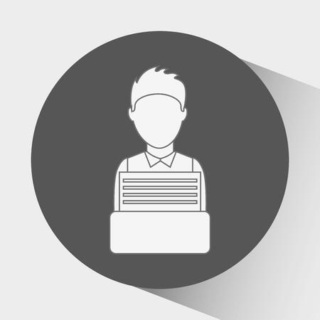tribunal: justice flat icon design, vector illustration eps10 graphic