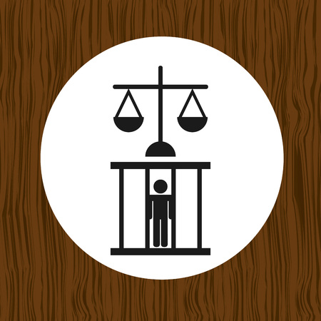 tribunal: justice flat icon design, vector illustration eps10 graphic