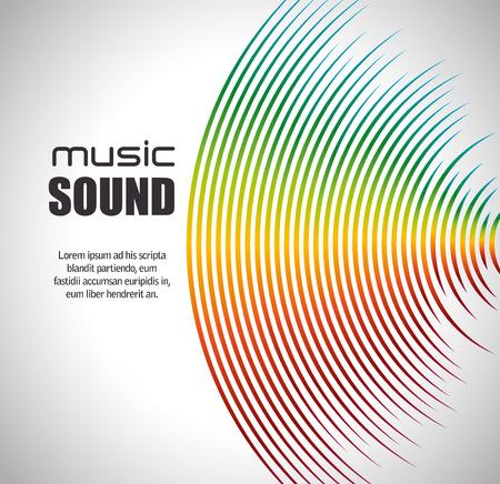 music sound design, illustrazione grafica vettoriale eps10 Vettoriali