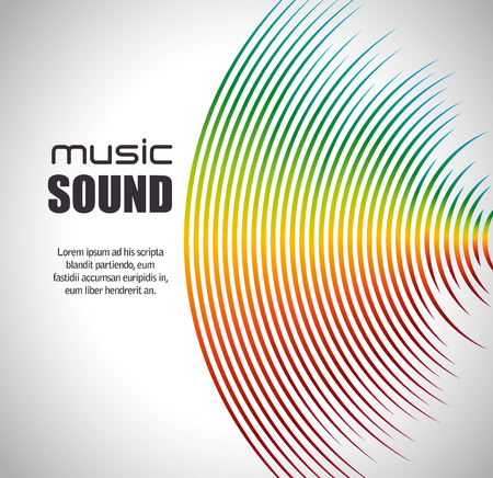 music sound  design, vector illustration eps10 graphic Stock fotó - 55907211