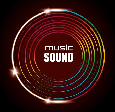 digital music: music sound  design, vector illustration eps10 graphic
