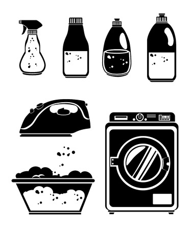 cleaning cloth: laundry full service design, vector illustration eps10 graphic Illustration