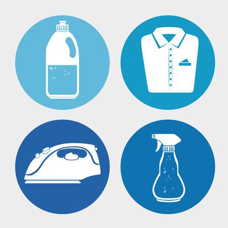 bootle: laundry full service design, vector illustration eps10 graphic Illustration