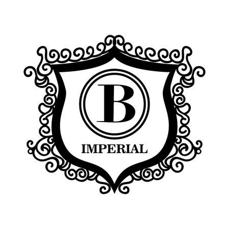 Emblem königliche Qualität Design, Vektor-Illustration eps10 Grafik