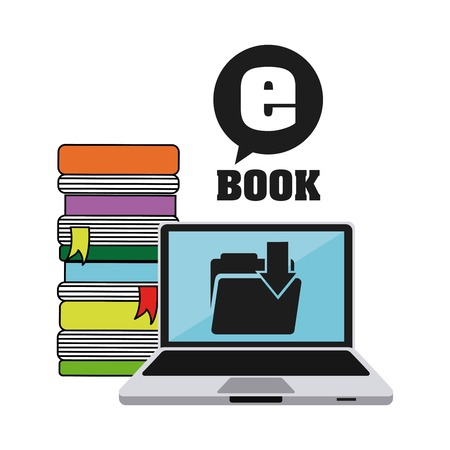 e magazine: download e-book design, vector illustration eps10 graphic Illustration