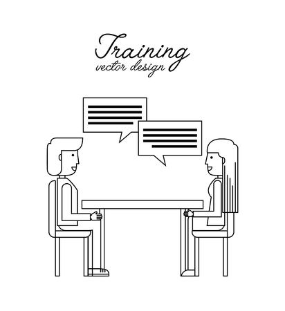 training course: training course  design, vector illustration eps10 graphic Illustration