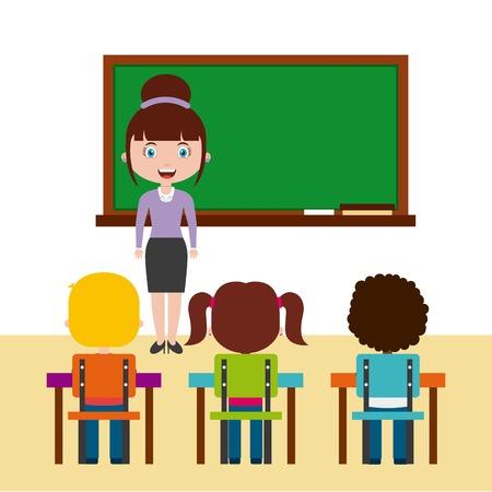教師教室デザイン、ベクトル図 eps10 グラフィック