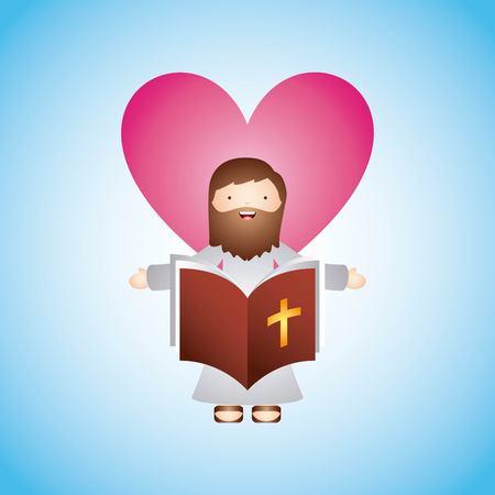 encouraging: Catholic love design, vector illustration eps10 graphic Illustration