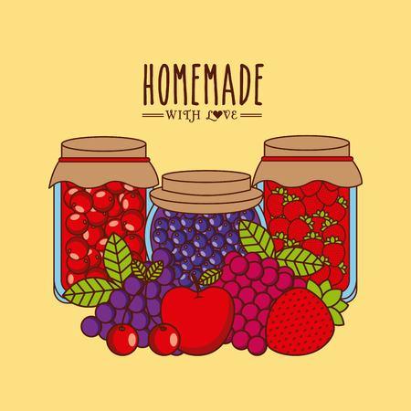 homemade: homemade jam design, vector illustration eps10 graphic