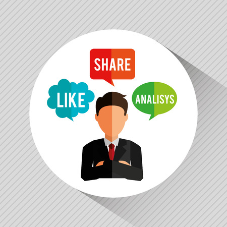 analisys: social media design, vector illustration eps10 graphic
