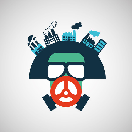 industrial safety: industrial work design, vector illustration eps10 graphic