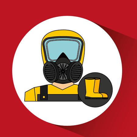 hazzard: industrial work design, vector illustration eps10 graphic