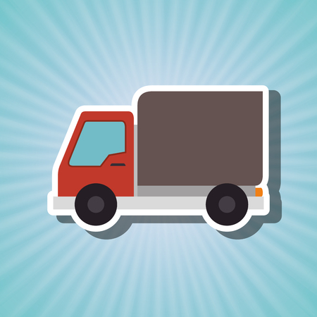 truck isolated design, vector illustration eps10 graphic